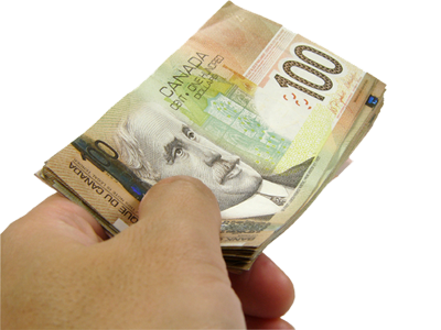 cdn 100s in hand png